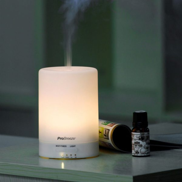 Illuminated Aroma diffuser with essential oils